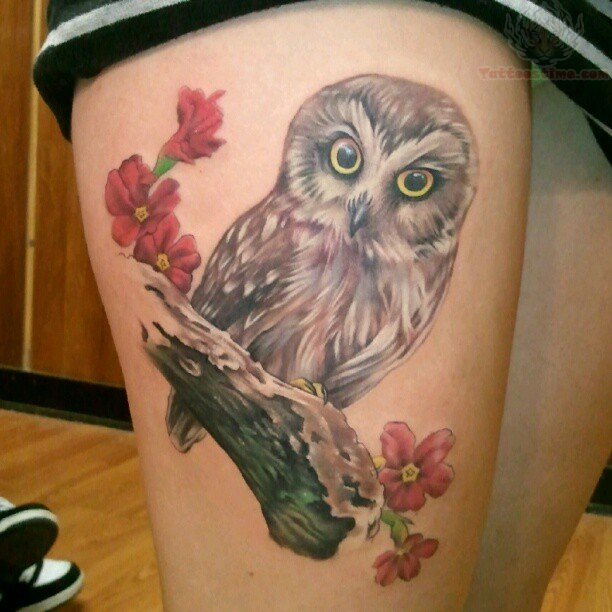 Owl Ankle Tattoo Picture