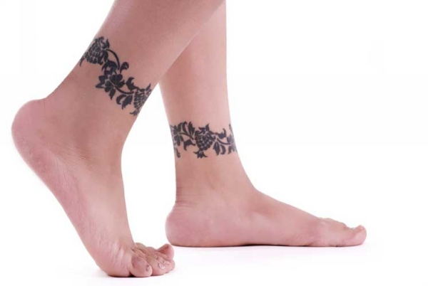 Owl Tattoo Above Ankle