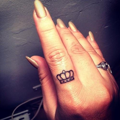 P Crown Tattoo Picture