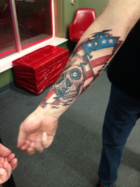 Patriotic  Tattoo For Arm