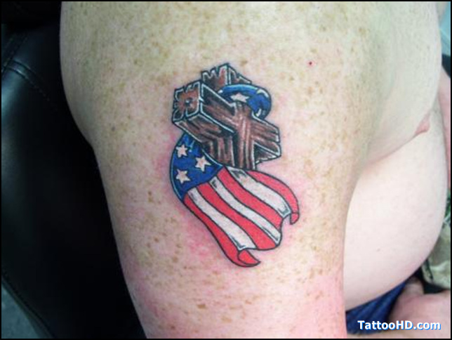 Patriotic Army Tattoo