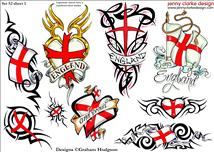 Patriotic Tattoos Sheet