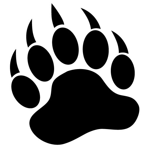 Paw Of Bear Tattoo Stencil