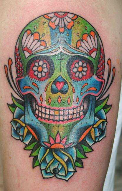 People Face Skull Tattoos