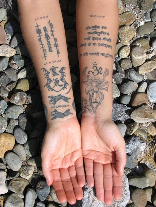 Phases Of Moon Tattoos On Arms