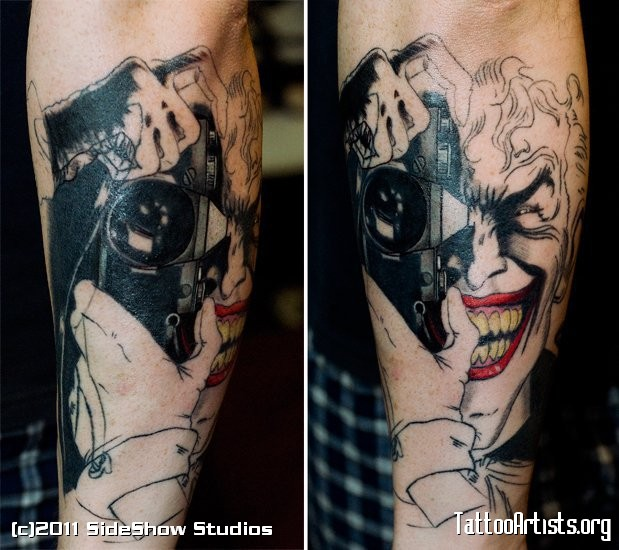 Photography Joker Cover Up Tattoo Design