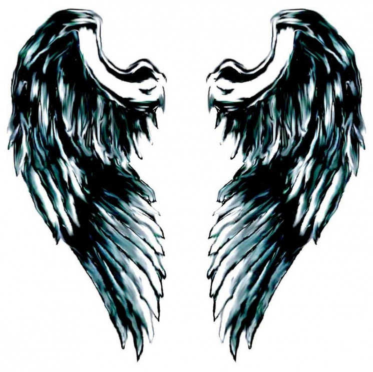 Pictures Of Angel Wings Tattoo On Back Of Girl