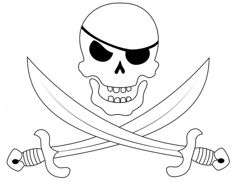 Pirate Skull And Crossed Sword Tattoos