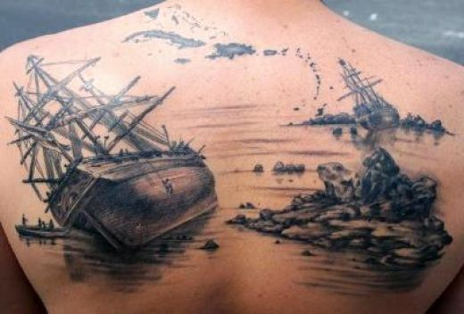 Pirate Without Color Tattoo Design