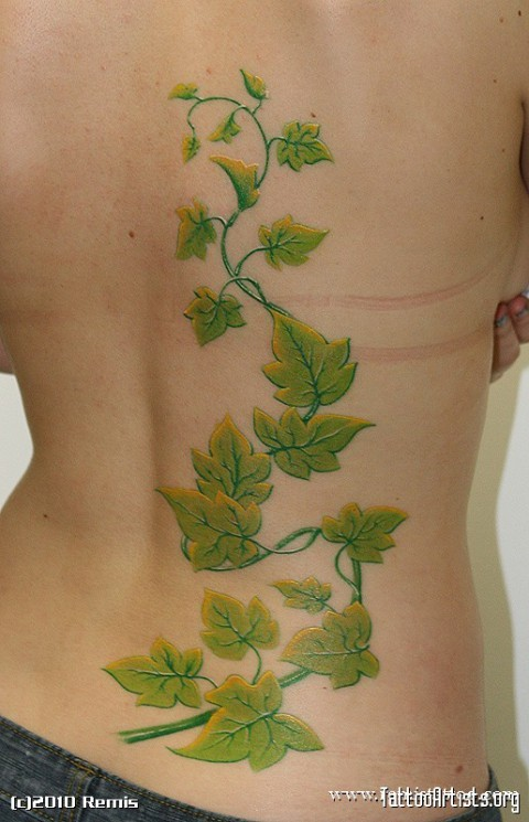 Poison Ivy Tattoo Painting