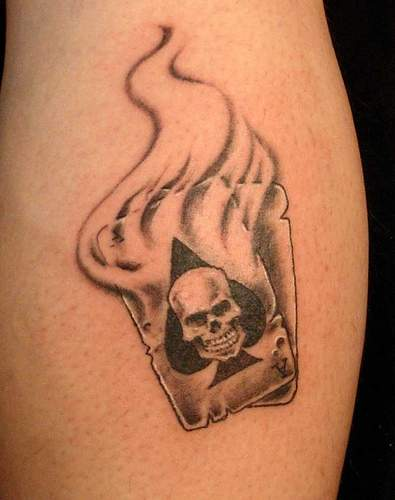 Poker Hand Tattoo On Hip
