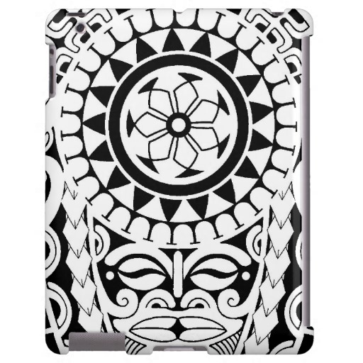Polynesian style sun tattoo design in 2017 real photo for Polynesian sun tattoo