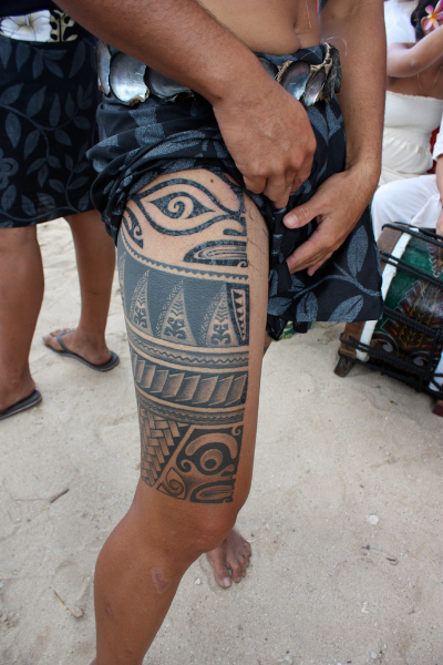 Polynesian Thigh Tattoos