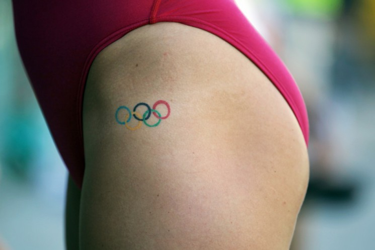 Olypmic Logo Tattoo Specially For Men