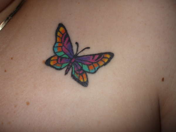 Pretty Small Butterfly Tattoo