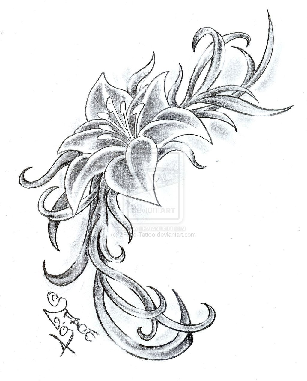 printable flower tattoo designs real photo pictures images and