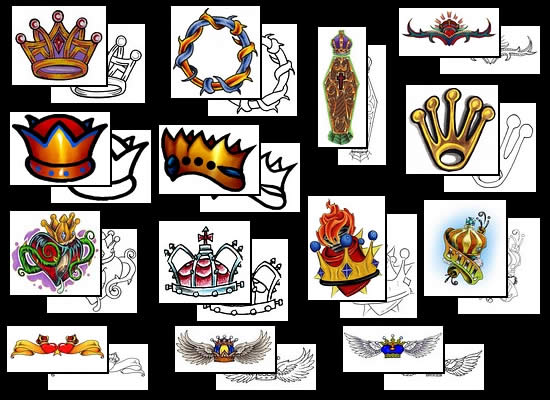 Queen Crown Tattoos Images