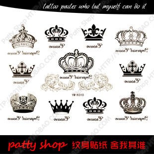 Queen Temporary Tattoo Sticker On Chest