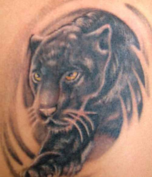 Realistic Animal Panther Tattoo For Women