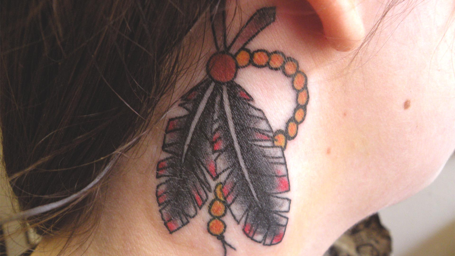 realistic black bat tattoo on neck real photo pictures images