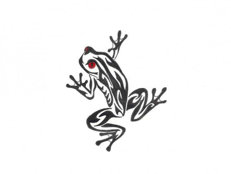 Red Eye Tree Frog Tattoo Designs
