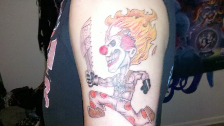 Red Juggalo Tattoo Design