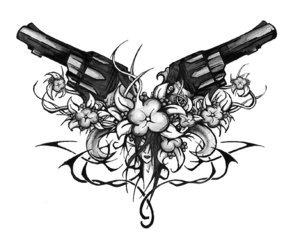 Rihanna Gun Tattoo Designs