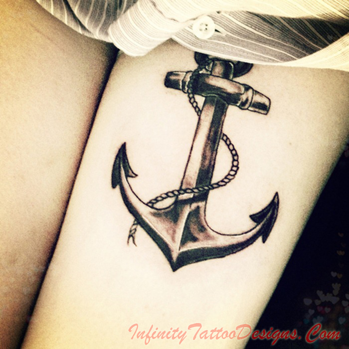 Rope Anchor Tattoo On Back