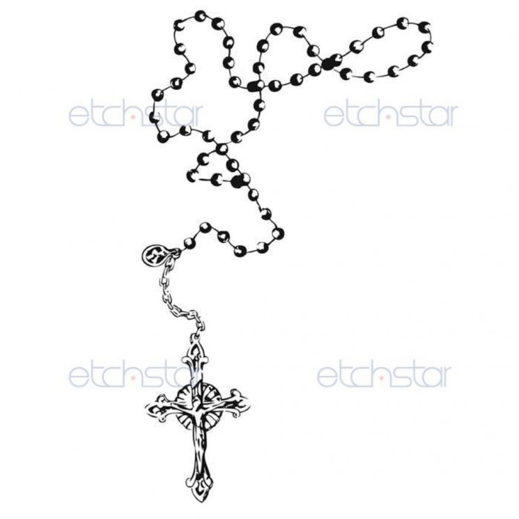 Rosary Beads Ankle Tattoo Design