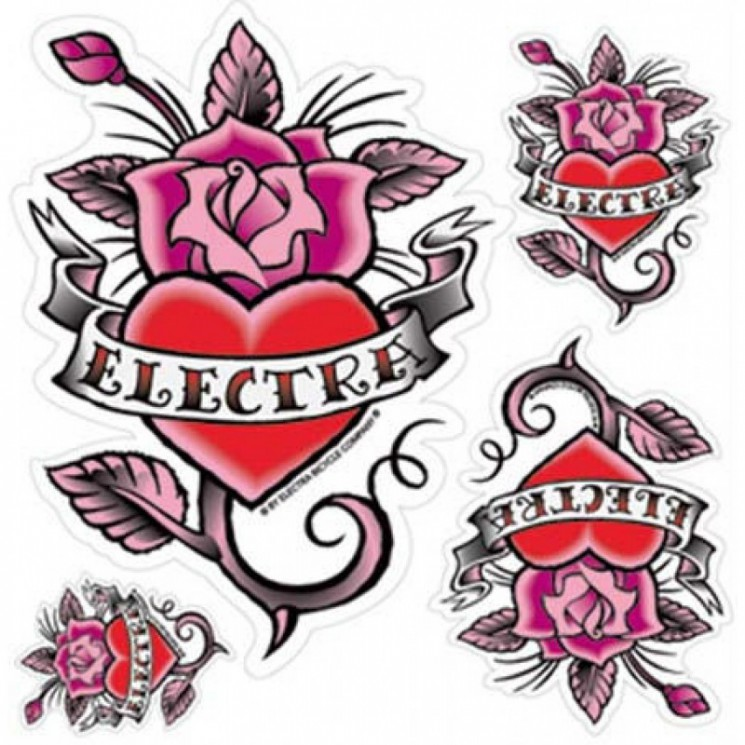 Rose And Heart Tattoo Set