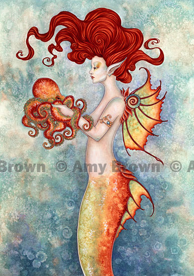 Roses And Mermaid Tattoo Poster