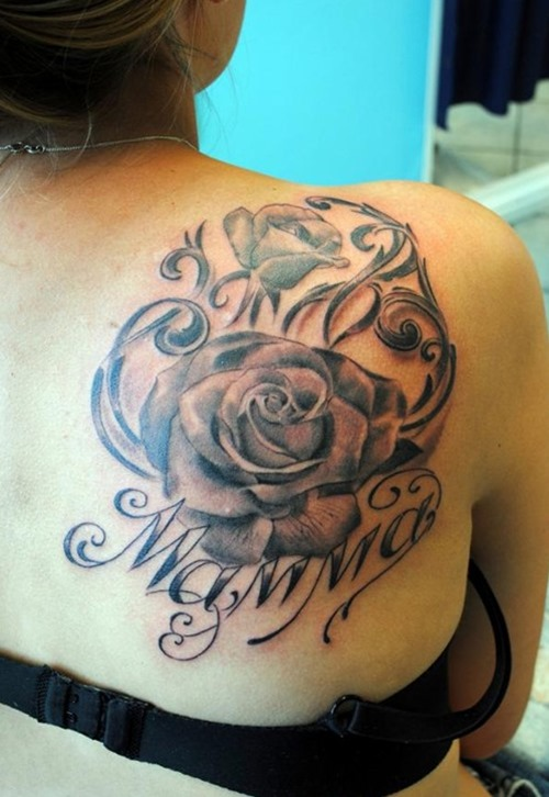 Roses Tattoos On Right Shoulder