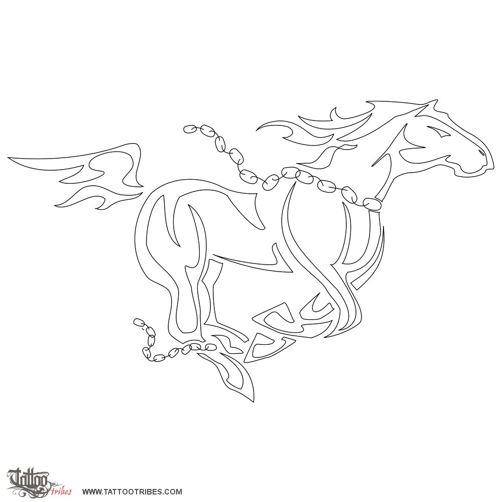 running horse tattoo stencil in 2017 real photo pictures images and sketches tattoo collections. Black Bedroom Furniture Sets. Home Design Ideas