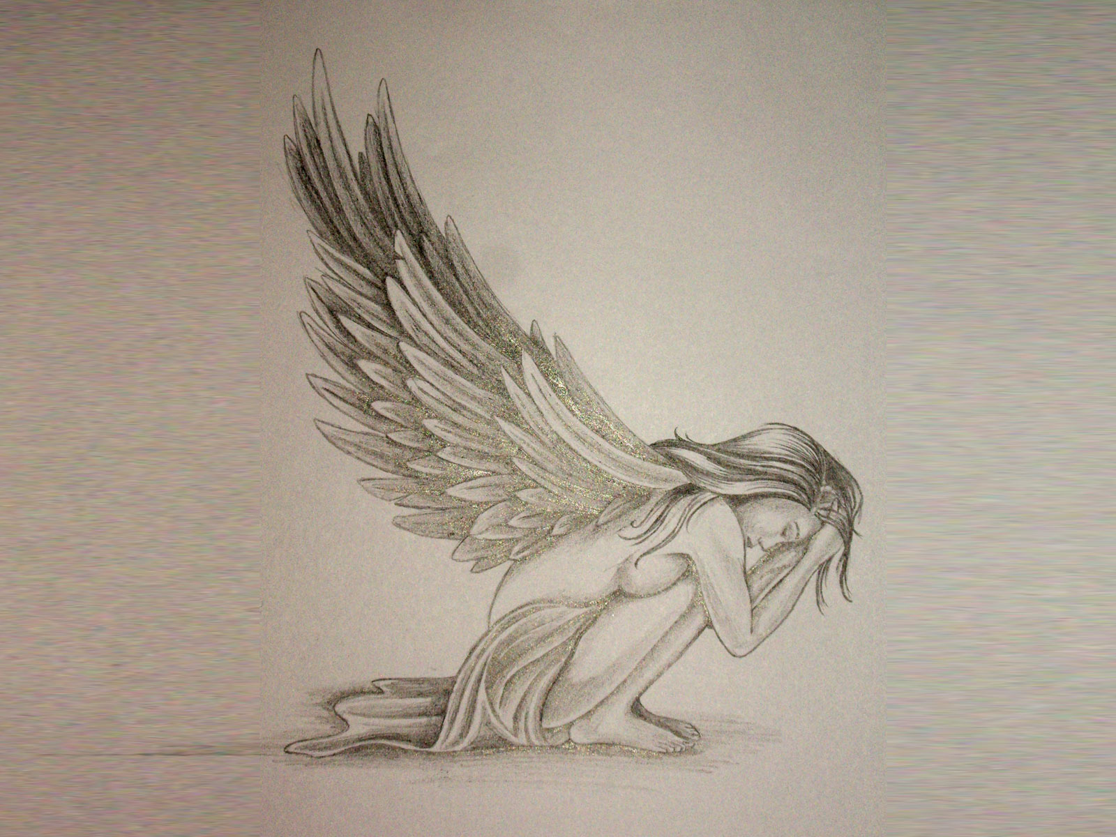 Sad Angel Girl Tattoo In 2017 Real Photo Pictures Images