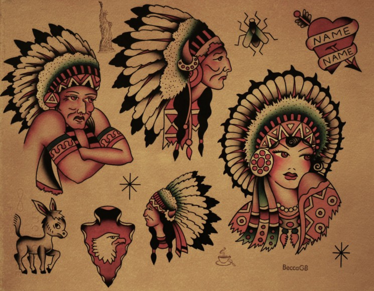 Sailor Jerry American Tattoos Flash