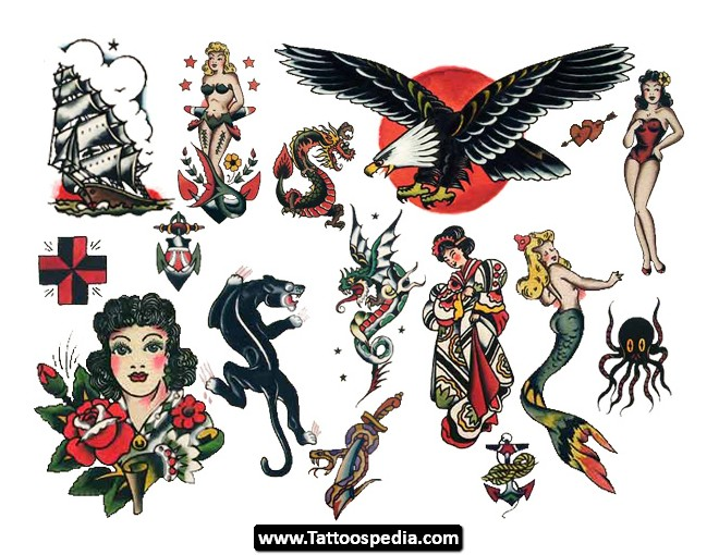 Sailor Jerry Ship And Mermaid Chestpiece Tattoos