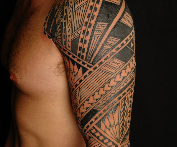 Samoan Half Sleeve Tattoo For Men