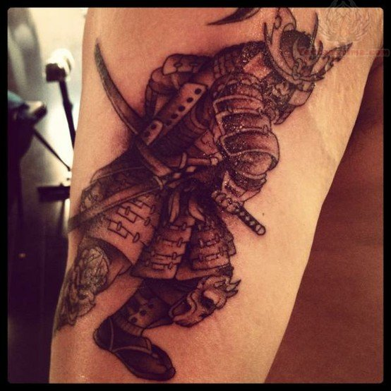Samurai Warrior Sleeve Tattoos