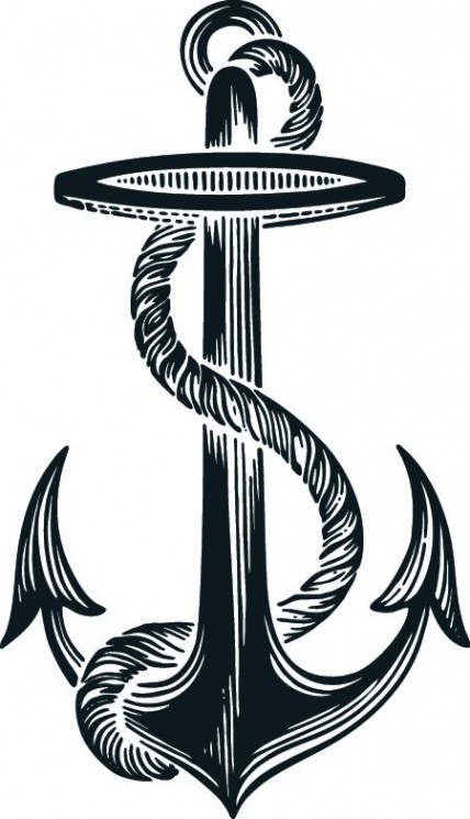 Scary Anchor Tattoo On Shoulder
