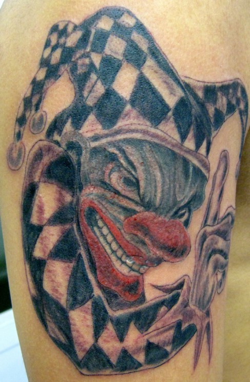 Scary Clown Tattoo Picture