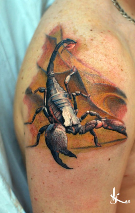 Scorpion Without Color Tattoo Sample