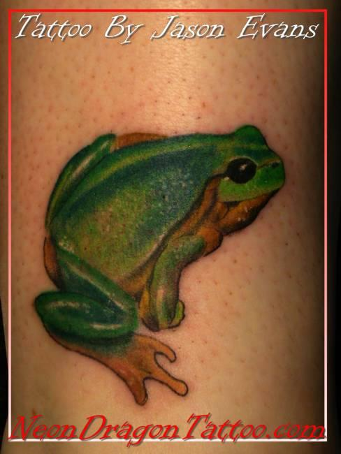 Scuba Frog Tattoo On Right Arm