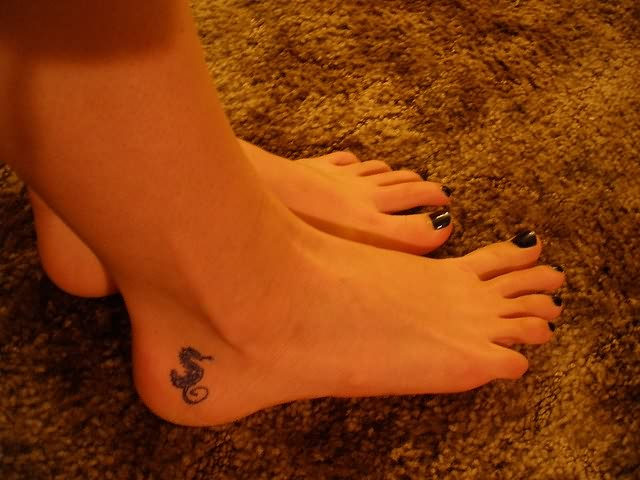 Seahorse Tattoo On The Ankle