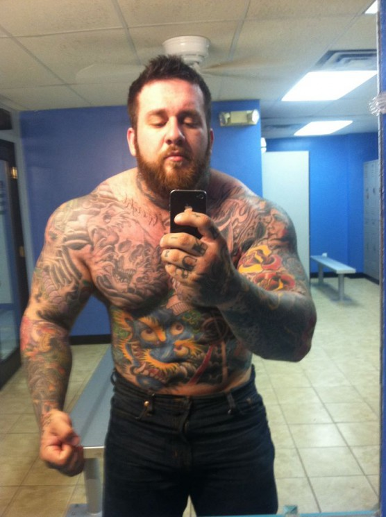 Selfie Cool Muscles Tattoo Click