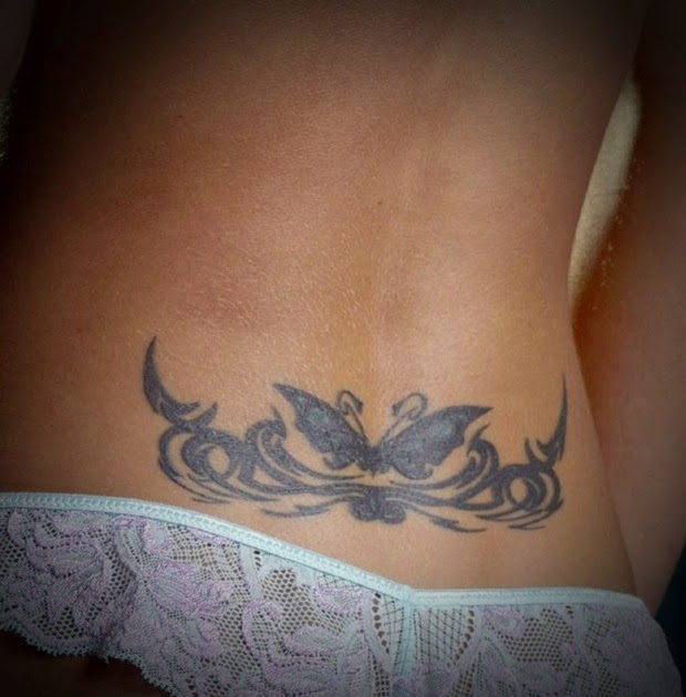 Sexy Back Tattoo Of A Butterfly
