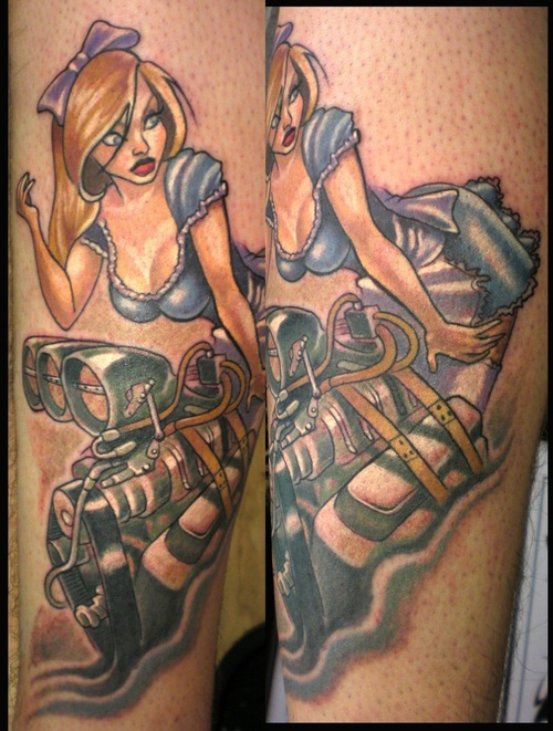 Sexy Jessica Rabbit Tattoo On Sleeve For Girls
