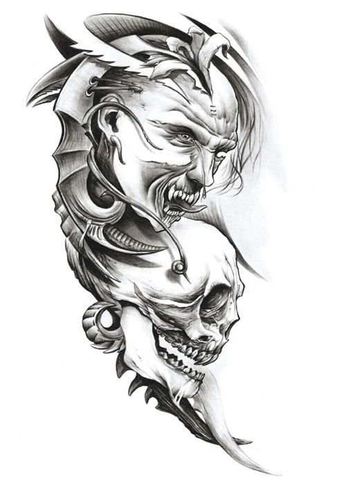 Screaming Panther With Wings Tattoo On Biceps