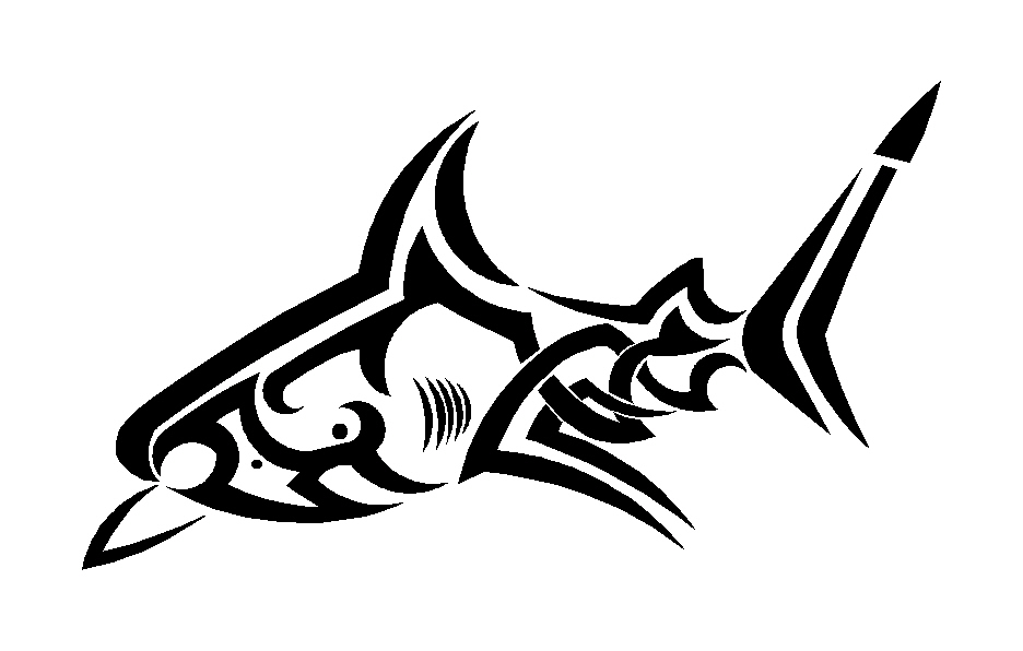 Tribal shark tattoo designs