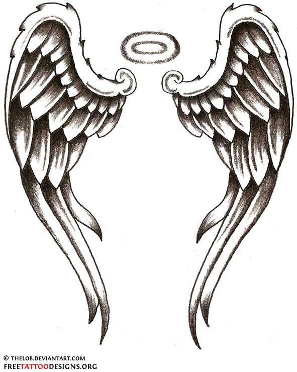 Shining Blue Eagle Wing Tattoo On Ankle