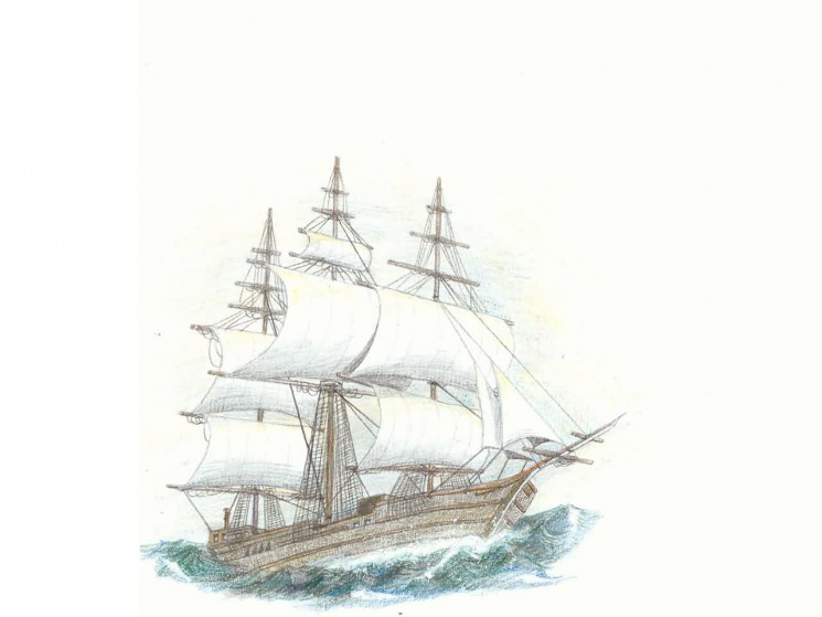 Ship On The Waves Tattoo Drawing